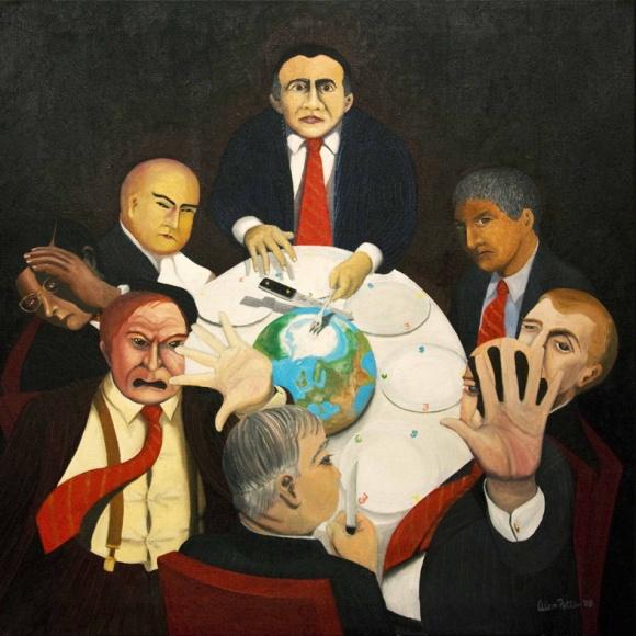 """Intrusion""  Oil on Canvas 120cm x 120cm"