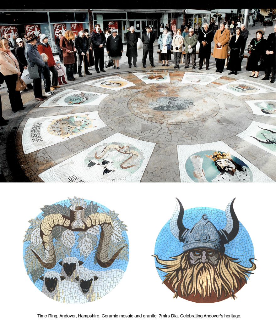 Alan Potter Andover mosaic