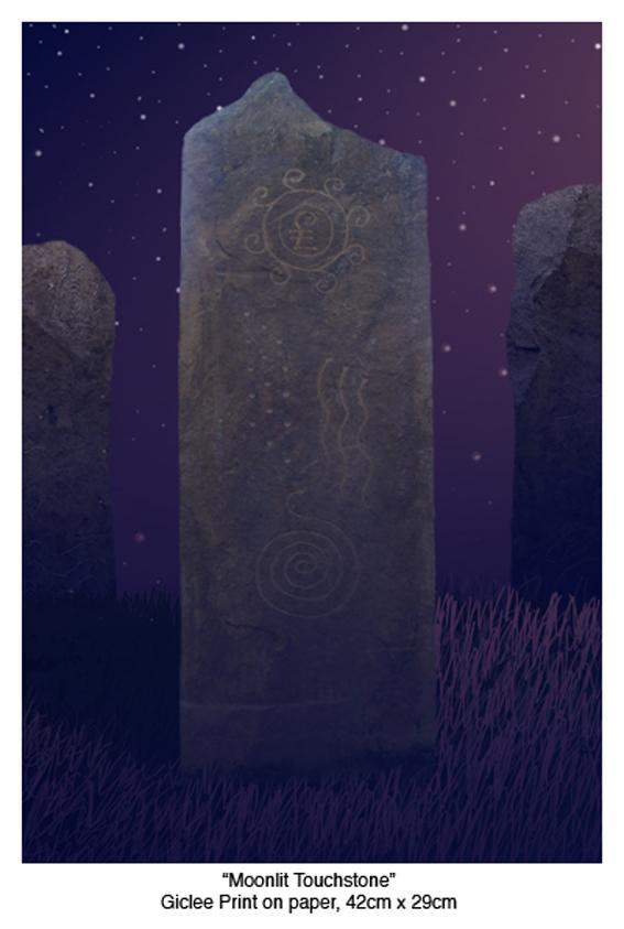 Alan Potter Moonlit Touchstone print