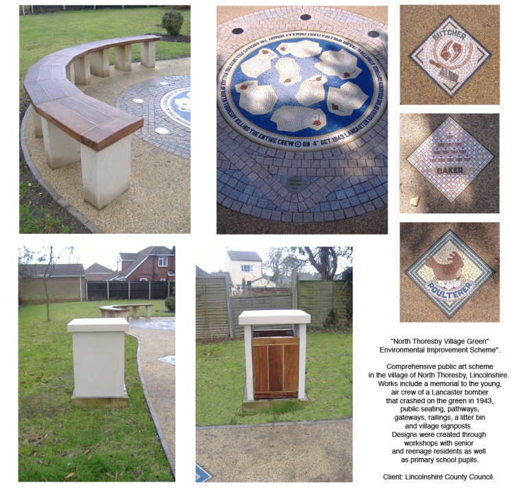 Alan Potter NT bench & Mosaics