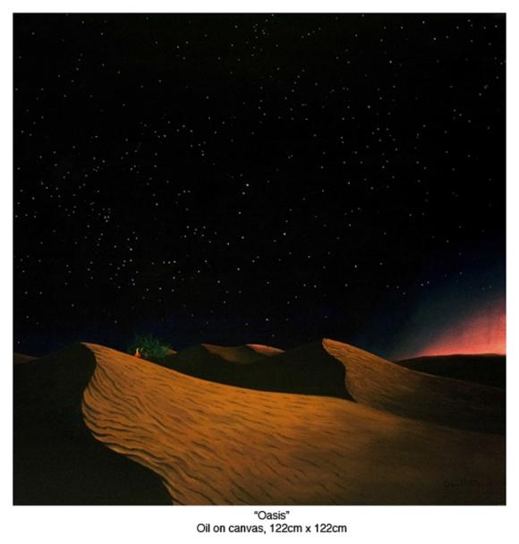 Alan Potter Oasis painting