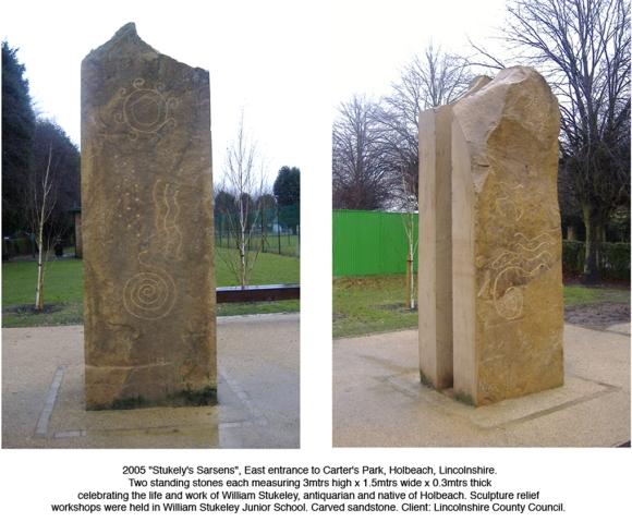 Alan Potter Stukeley sculpture