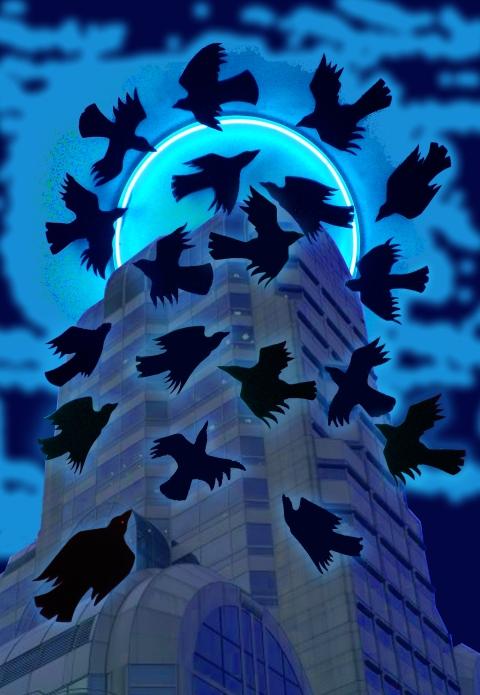 """Blue Murder in the City"" Digital Print"