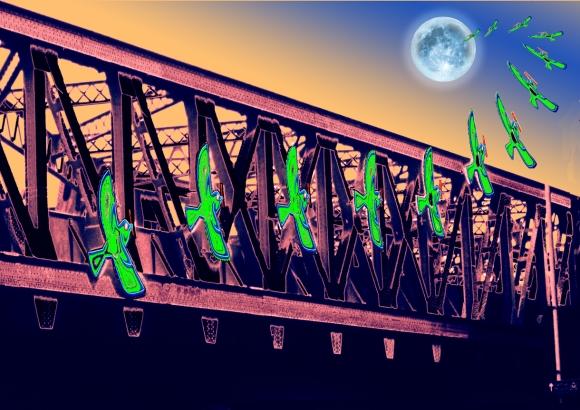 """Moonrise Over Hackney"" Digital Print"